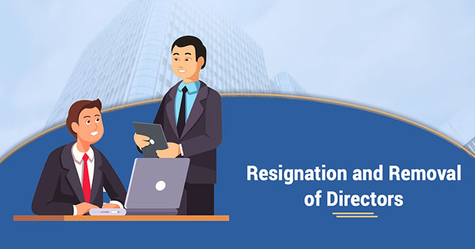Resignation and removal of Director