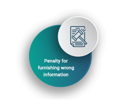 penalty for furnishing wrong information