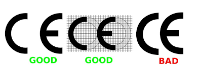 fake and real CE marking