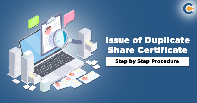 Issue of Duplicate Share Certificate