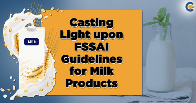 Guidelines for milk products