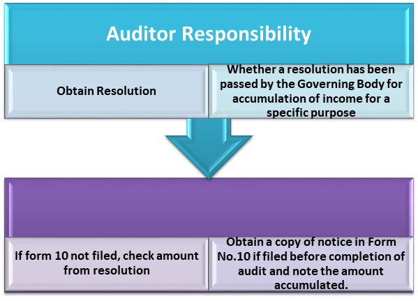 Auditor responsibility