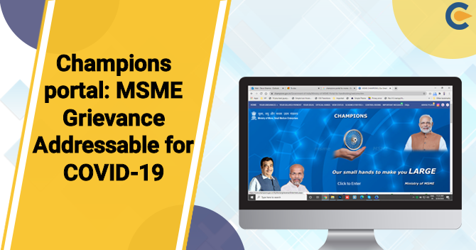 Now resolve Grievances redressal for MSMEs pertaining to COVID-19