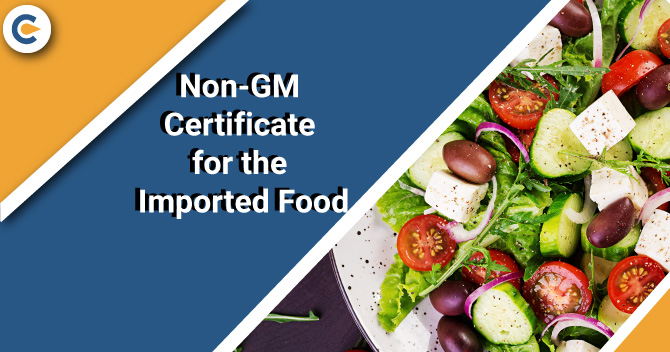 Non-GM Certificate for the Imported Food