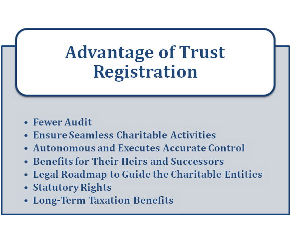 Advantage of Trust registration in India