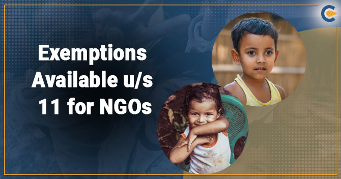 Exemptions Available Us 11 for NGOs