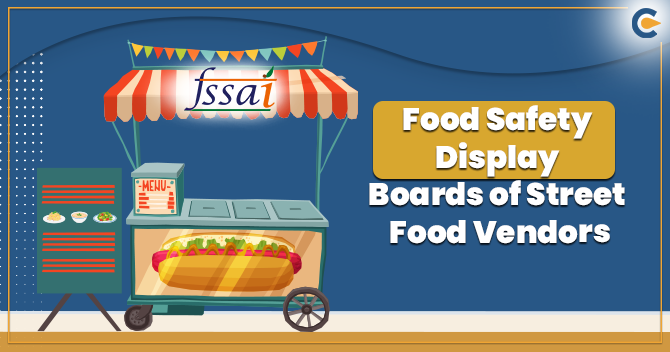 Food Safety Display Boards of Street Food Vendors