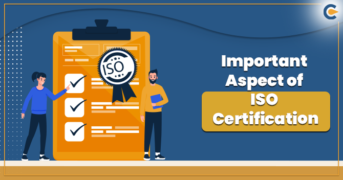 Aspect of ISO certification