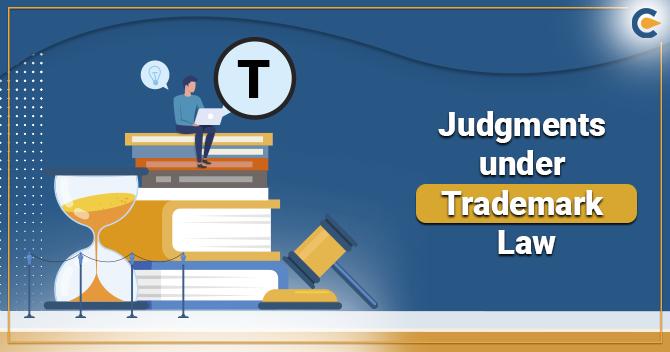 Judgments under Trademark