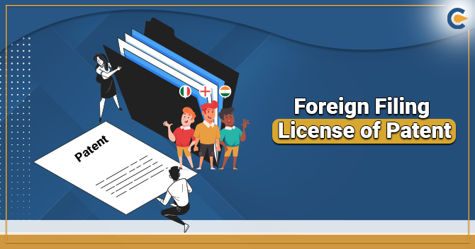 Foreign Filing License of Patent