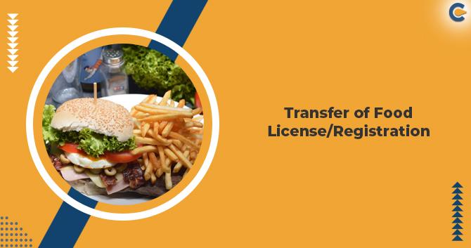 Transfer of Food License/Registration