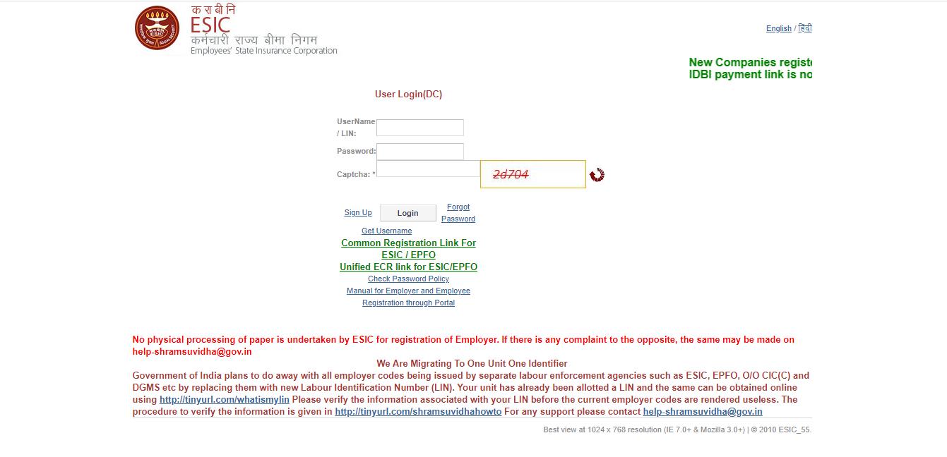 employee under the ESIC scheme