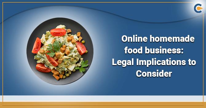 Online homemade food business
