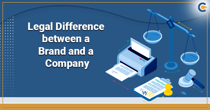 legal Difference between a Brand and a Company