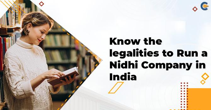 Run a Nidhi Company